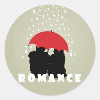 Romance Genre Book Cover Round Sticker