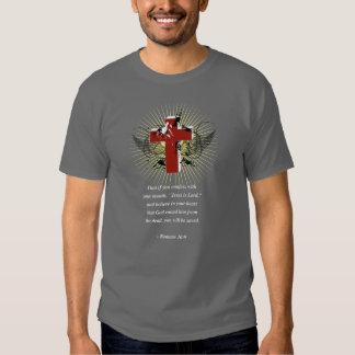 ROMANS 10:9 Bible Verse T-shirt