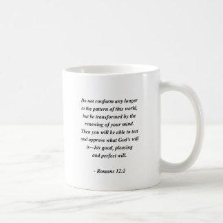 ROMANS 12:2 BASIC WHITE MUG