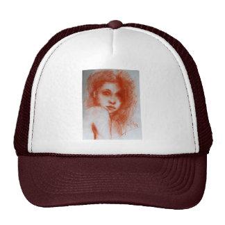 ROMANTIC BEAUTY / Woman Portrait in Sepia Brown Cap