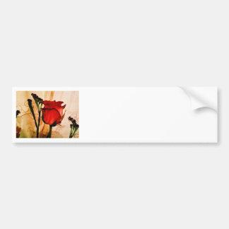 Romantic Vintage Red Rose Bumper Sticker