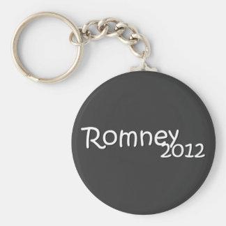 Romney 2012 basic round button key ring
