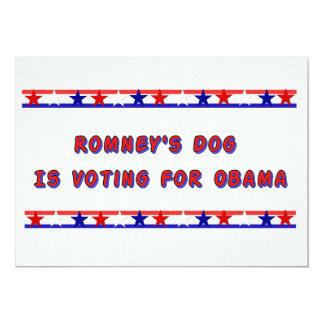 Romney's Dog 13 Cm X 18 Cm Invitation Card