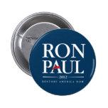 Ron Paul 2012 (Blue) 6 Cm Round Badge