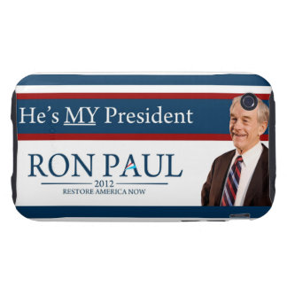Ron Paul 2012 He's My President Tough iPhone 3 Covers