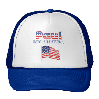 Ron Paul for President Patriotic American Flag Cap