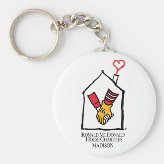 Ronald McDonald Hands Basic Round Button Key Ring