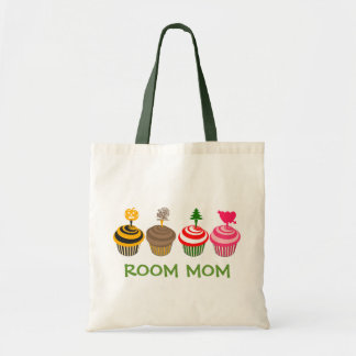 Room Mom Seasonal Cupcakes Tote Budget Tote Bag