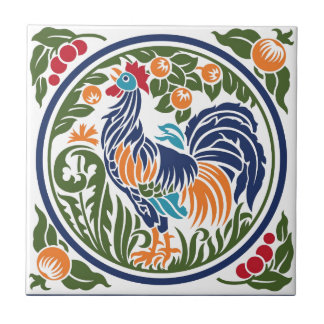 Rooster Small Square Tile