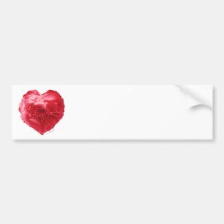 Rose Heart Red Label Bumper Sticker