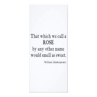 Rose Name Would Smell As Sweet Shakespeare Quote 10 Cm X 24 Cm Invitation Card