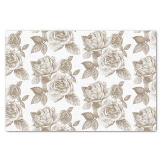 "Rose Sketch Tissue Paper in Sepia 10"" X 15"" Tissue Paper"