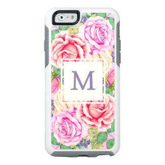 Roses Monogram Floral OtterBox iPhone 6/6s Case