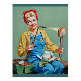 Rosie the Riveter Makes Toasted Cheese Postcard
