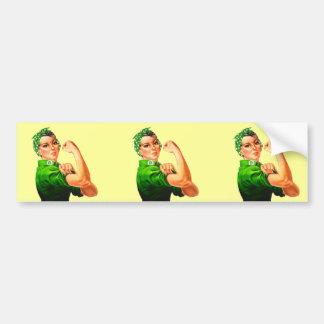 Rosie The Riveter - Military Support Bumper Sticker