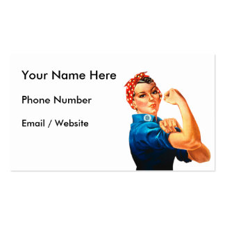 Rosie The Riveter WWII Poster Pack Of Standard Business Cards