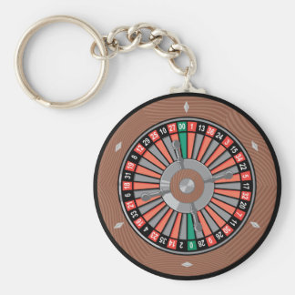 Roulette Wheel - Casino Play To Win Basic Round Button Key Ring