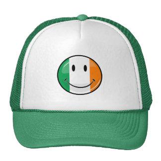 Round Smiling Irish Flag Cap