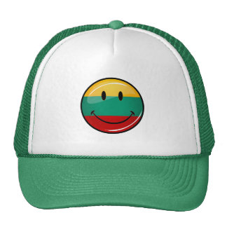Round Smiling Lithuanian Flag Cap