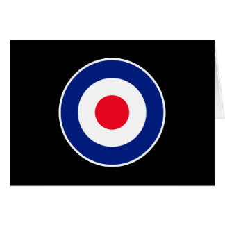 Roundel Graphic on Black Greeting Card