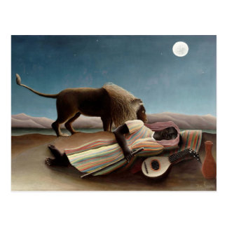 Rousseau's Sleeping Gypsy postcard