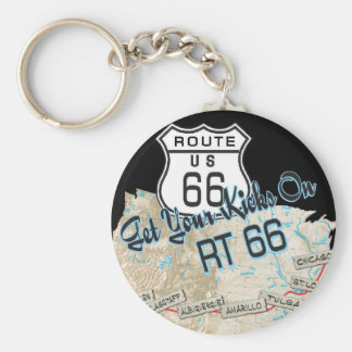 route 66 gifts basic round button key ring