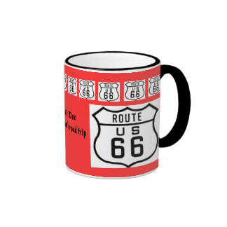 Route 66 Road Trip Souvenir Ringer Mug
