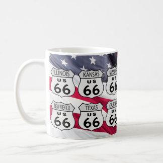 Route 66 States Basic White Mug
