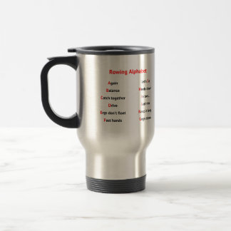 Rowing Alphabet fun A to Z Stainless Steel Travel Mug