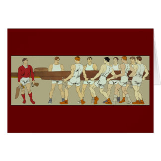 Rowing Crew by Penfield Note Card