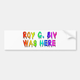 Roy G. Biv Graffiti Bumper Sticker