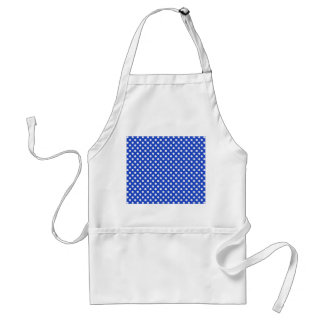 Royal Blue Combination Polka Dots Standard Apron