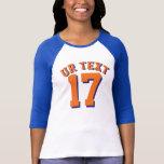 Royal Blue White & Orange Adults | Sports Jersey Shirts