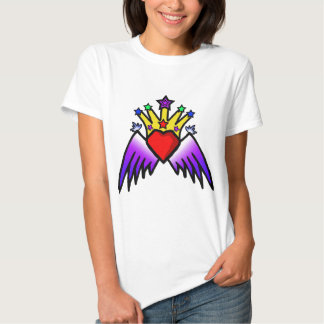 royal jester heart tshirts