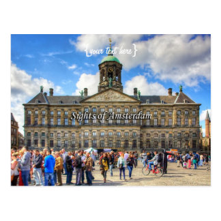 Royal Palace - Dam Square, Sights of Amsterdam Postcard