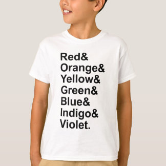 ROYGBIV Red Orange Yellow Green Blue Indigo Violet Tee Shirt
