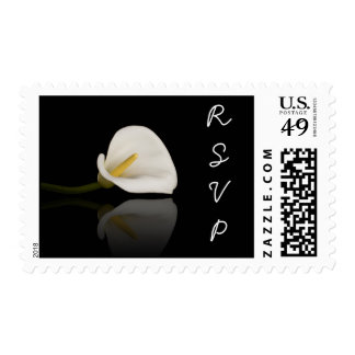 RSVP postage with calla lily
