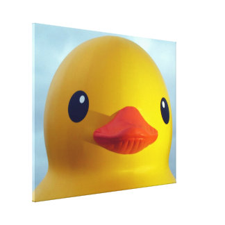 rubber duck stretched canvas print