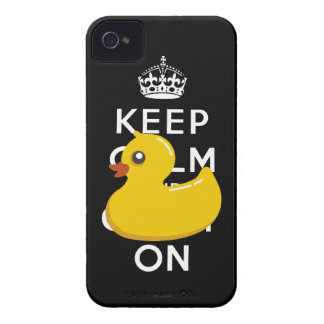 Rubber Duckie Keep Calm and Carry On iPhone 4 Case