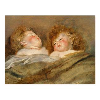 Rubens Two sleeping children CC0729 Postcard
