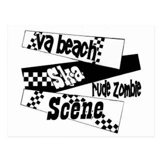 Rude Zombie ska scene Postcard