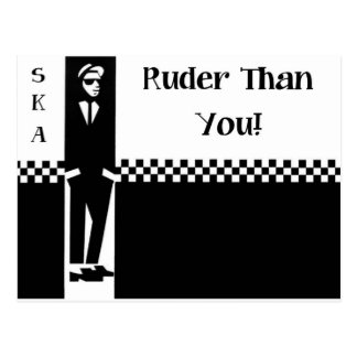 RUDER THAN YOU. POSTCARD