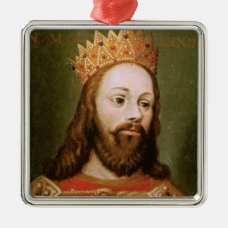 Rudolf I  uncrowned Holy Roman Emperor Silver-Colored Square Decoration