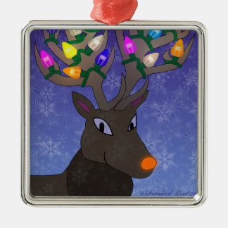 Rudolf with Lights Ornament