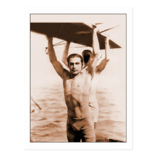 Rudolph Valentino in Bathing Suit Postcard