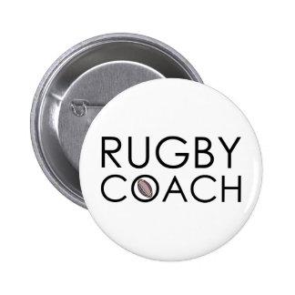 Rugby Coach 6 Cm Round Badge