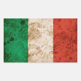 Rugged Italian Flag Rectangular Sticker