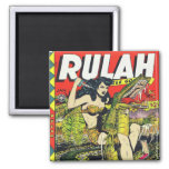 Rulah-Vintage Comic Book Square Magnet