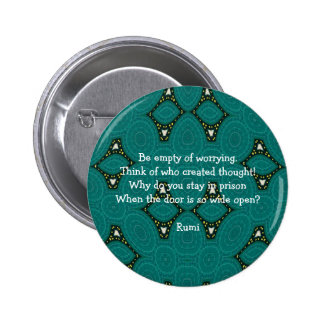 Rumi Inspirational quote With Tribal Design 6 Cm Round Badge
