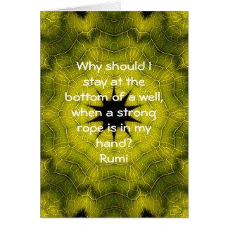 Rumi Taking Action Inspirational Quotation Saying Greeting Card